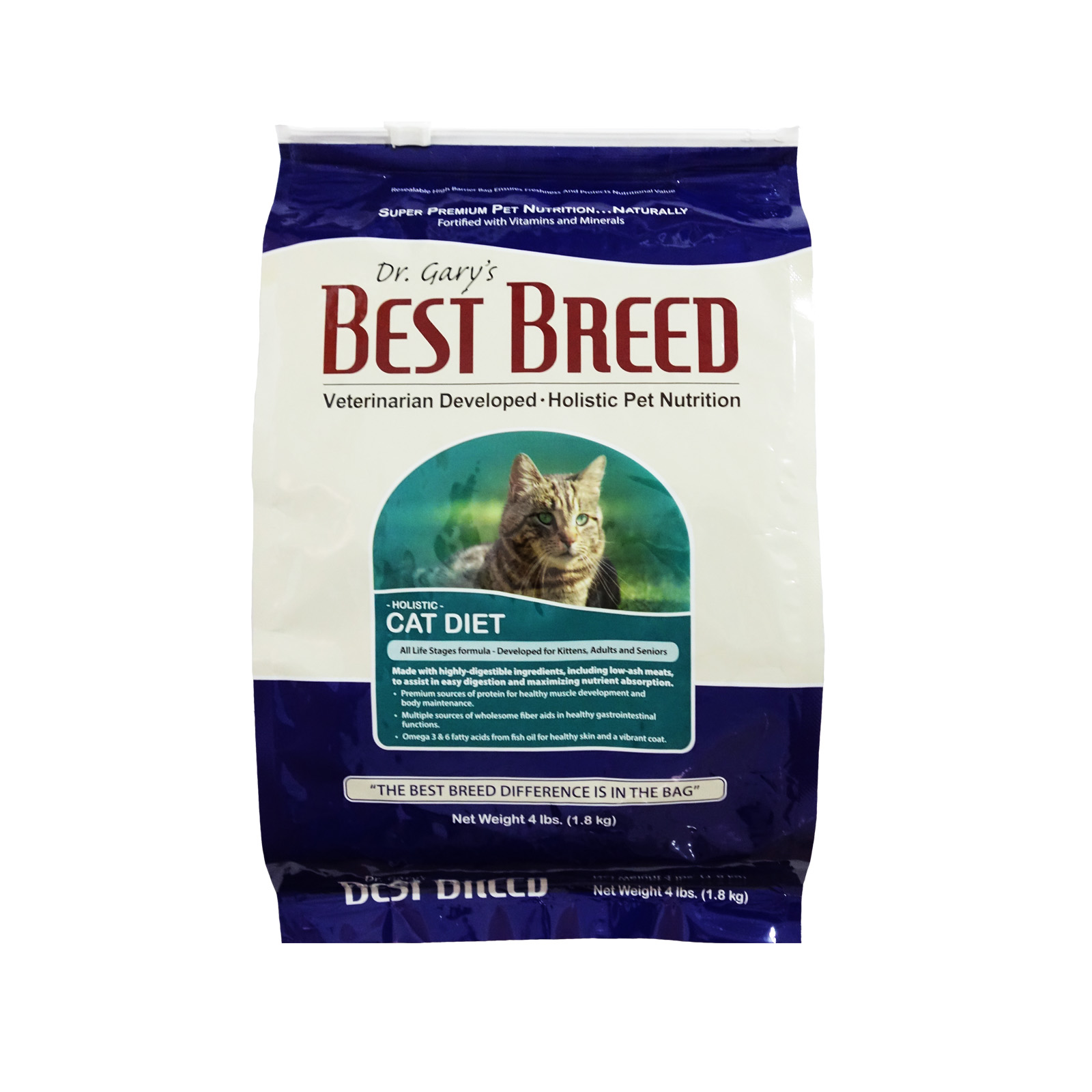 Dr. Gary's Best Breed Holistic All Life Stages Chicken and Herring Cat Diet Dry Food 1.8kg