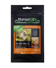 Naturlife Dog Snack Fish Steak BBQ Dog Treat 65g