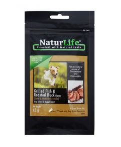 Naturlife Dog Snack Grilled Fish And Roasted Duck Dog Treat 65g