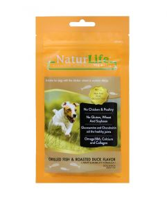 Naturlife Dog Snack Grilled Fish And Roasted Duck Dog Treat