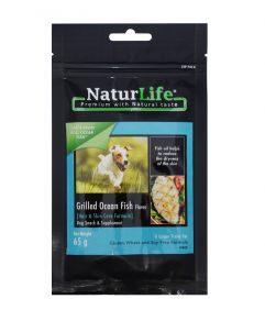 Naturlife Dog Snack Grilled Ocean Fish Dog Treat 65g