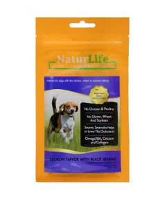 Naturlife Dog Snack Smoked Salmon Flavor with Black Seasame Dog Treat