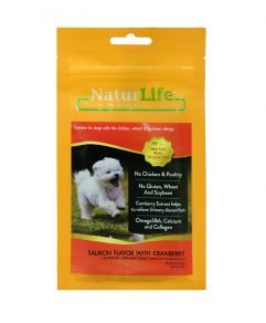 Naturlife Dog Snack Smoked Salmon Flavor with Cranberry Dog Treat