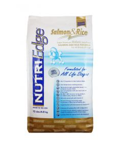 Nutri Edge Holistic Dog Food Salmon and Rice 6.8kg (15lbs)